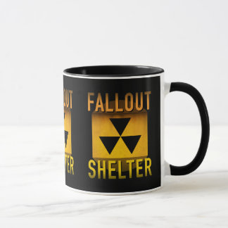 Nuclear Fallout Shelter Retro Atomic Age Grunge : Mug