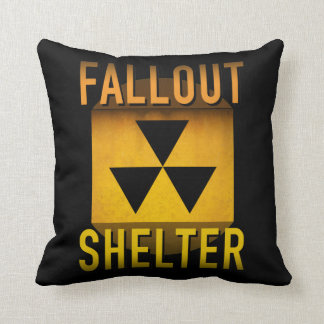 Nuclear Fallout Shelter Retro Atomic Age Grunge : Throw Pillow