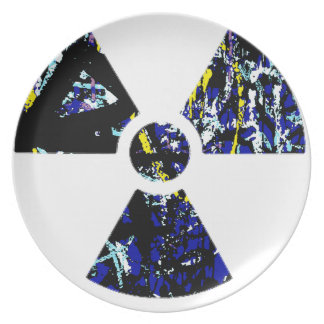 Nuclear Graffiti Dinner Plates