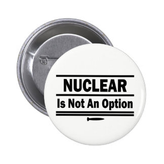Nuclear Is Not An Option 2 Inch Round Button