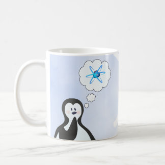 Nuclear Physics Penguin + Snowflake Coffee Mug