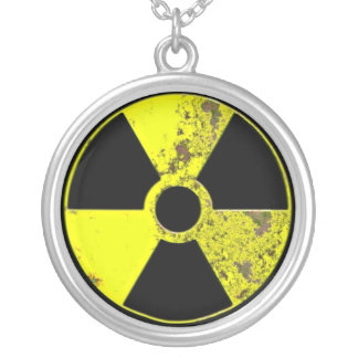 Nuclear Powered Silver Plated Necklace