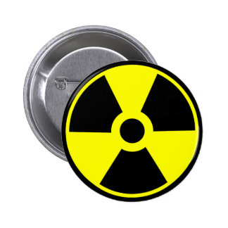 Nuclear Radiation Symbol Radioactive Symbol 2 Inch Round Button