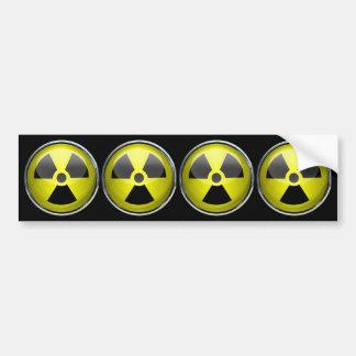 Nuclear Radiation Symbol Radioactive Warning Sign Bumper Sticker