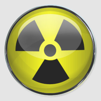 Nuclear Radiation Symbol Radioactive Warning Sign Classic Round Sticker