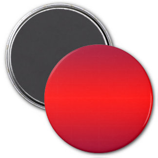 Nuclear Red Gradient - Poppy Reds Template Blank 3 Inch Round Magnet