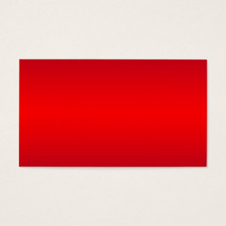 Nuclear Red Gradient - Poppy Reds Template Blank Business Card