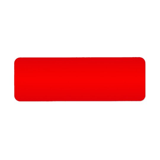 Nuclear Red Gradient - Poppy Reds Template Blank Return Address Label