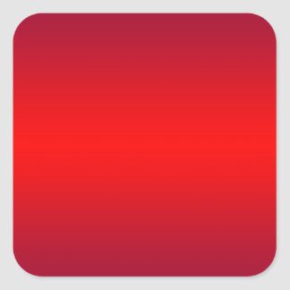 Nuclear Red Gradient - Poppy Reds Template Blank Square Sticker