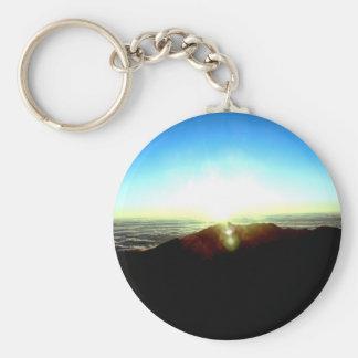 Nuclear Sunrise Basic Round Button Keychain