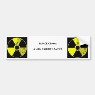 nuclear symbol, nuclear symbol, BARACK OBAMAA M... Bumper Sticker