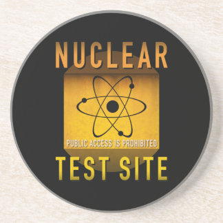 Nuclear Test Site Retro Atomic Age Grunge : Coaster