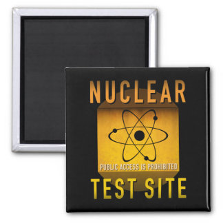 Nuclear Test Site Retro Atomic Age Grunge : Magnet