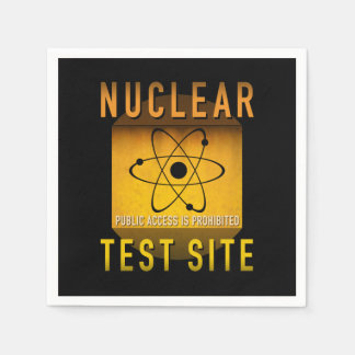 Nuclear Test Site Retro Atomic Age Grunge : Paper Napkins