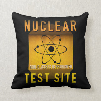 Nuclear Test Site Retro Atomic Age Grunge : Throw Pillow