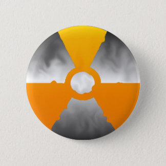 Nuclear Trefoil Symbol 2 Inch Round Button