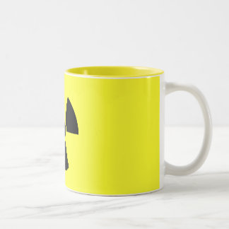 Nuclear Trefoil Two-Tone Coffee Mug