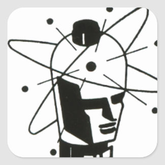 Nuclear Tube Head Square Sticker