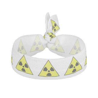 Nuclear Warning Triangle Elastic Hair Ties