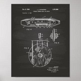 Nuclear Water Jet Engine 1959 Art  Chalkboard Poster