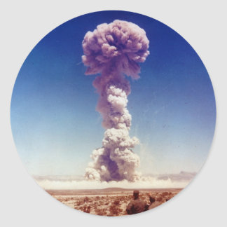 Nuclear Weapons Test Operation Buster-Jangle 1951 Classic Round Sticker