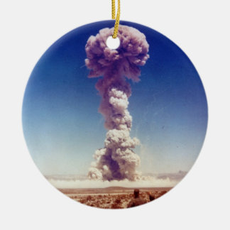 Nuclear Weapons Test Operation Buster-Jangle 1951 Round Ceramic Ornament