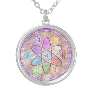 NUCLEUS - Adding Beauty to Science Silver Plated Necklace