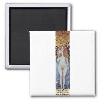 Nuda Veritas By Klimt Gustav Refrigerator Magnets