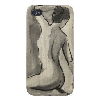 Nude Sketch of Female Body by Ethan Harper Case For iPhone 4