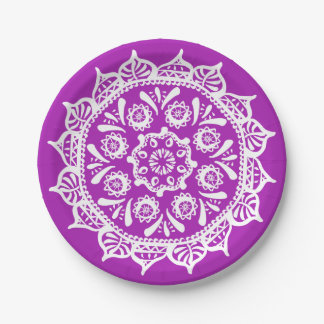Nudibranch Mandala 7 Inch Paper Plate