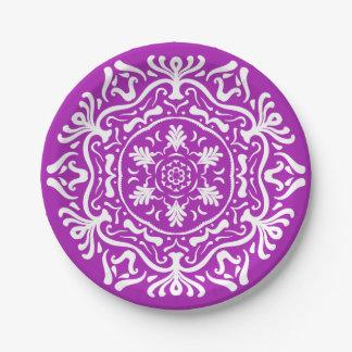 Nudibranch Mandala Paper Plate