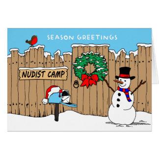 Nudist Camp Christmas Card
