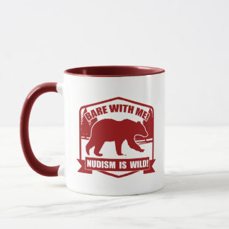 Nudist's, Bare With Me Mug