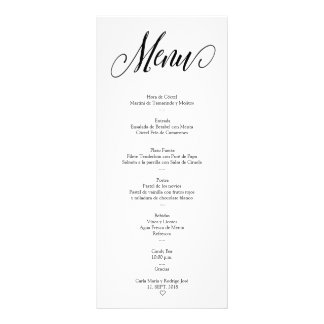 NUESTRA BODA Editable Spanish Menu Card