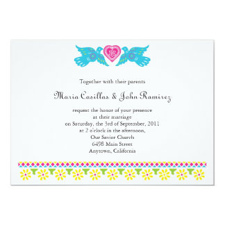 Nuestra Boda Love Birds Banner Invitation