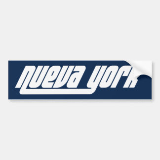 Nueva York NYC bumper sticker