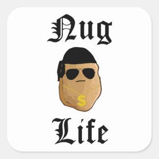 Nug Life Square Sticker