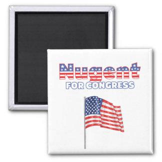 Nugent for Congress Patriotic American Flag Design Magnet
