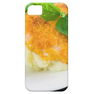 Nuggets of chicken, mashed potatoes and green bean iPhone 5 covers