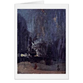 Nuit dans le noir et or par James Mcneill Whistler Carte De Vœux