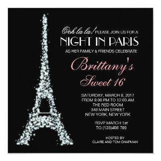 Nuit dans l'invitation de coutume du bonbon 16 à carton d'invitation  13,33 cm