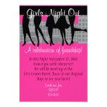 Nuit de filles carton d'invitation 8,89 cm x 12,70 cm