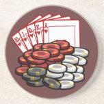 Nuit de jeu de poker dessous de verre