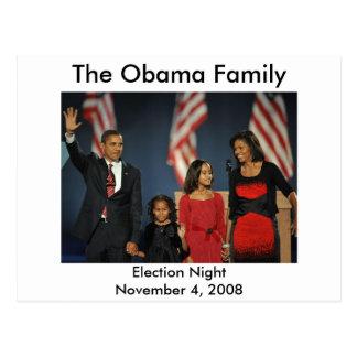 Nuit d'élection de famille d'Obama Carte Postale