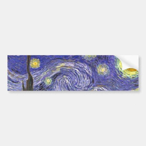 Nuit étoilée de Van Gogh, post impressionnisme Adhésif Pour Voiture