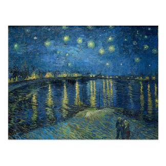 Nuit étoilée de Vincent van Gogh au-dessus du Carte Postale