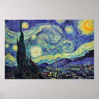 Nuit étoilée par l'affiche de Van Gogh