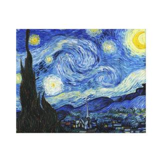 Nuit étoilée par Vincent van Gogh Toiles Tendues Sur Châssis