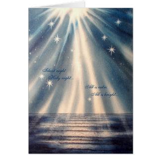 """""""Nuit silencieuse, carte de Noël de nuit sainte"""""""