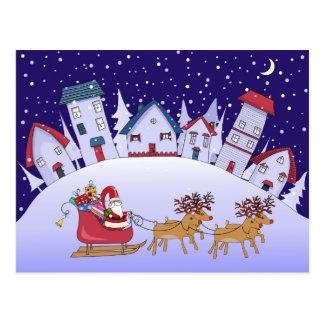 Nuit silencieuse - Noël dans un village Carte Postale